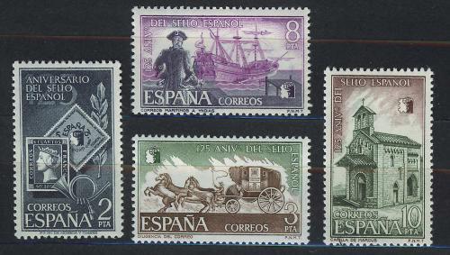 Poštovní známky Španìlsko 1975 První španìlská známka, 125. výroèí Mi# 2126-29