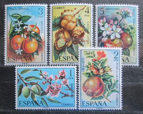 Poštovní známky Španìlsko 1975 Kvìty ovoce Mi# 2146-50