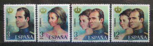 Poštovní známky Španìlsko 1975 Královský pár Mi# 2195-98
