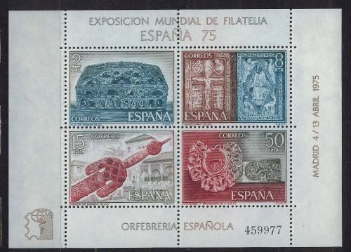 Poštovní známky Španìlsko 1975 Výstava ESPAÒA Mi# Block 19 Kat 8€