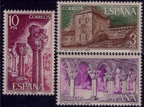 Poštovní známky Španìlsko 1975 Klášter San Juan de la Peòa Mi# 2190-92