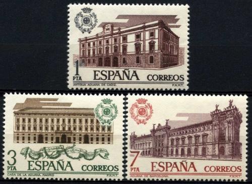 Poštovní známky Španìlsko 1976 Celní úøady Mi# 2219-21