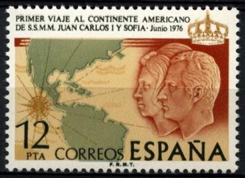 Poštovní známka Španìlsko 1976 Královský pár v Americe Mi# 2226