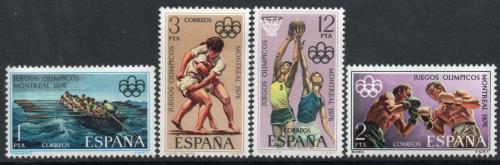 Poštovní známky Španìlsko 1976 LOH Montreal Mi# 2233-36