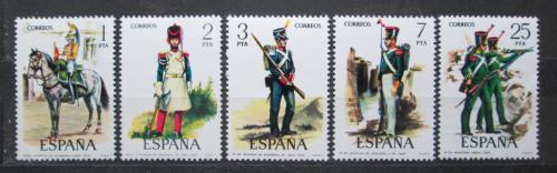 Poštovní známky Španìlsko 1976 Vojenské uniformy Mi# 2243-47
