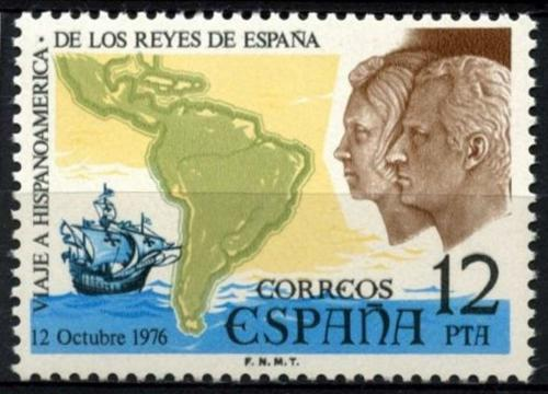Poštovní známka Španìlsko 1976 Královský pár v Jižní Americe Mi# 2263