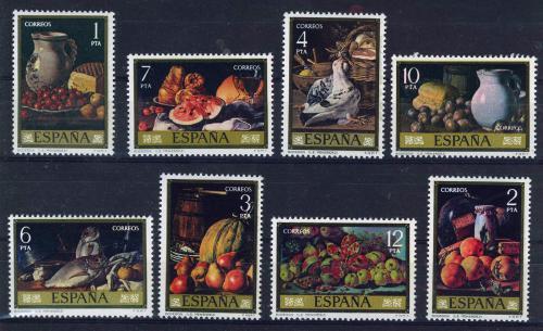 Poštovní známky Španìlsko 1976 Umìní, Luis Egidio Meléndez Mi# 2253-60