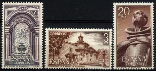 Poštovní známky Španìlsko 1976 Klášter San Pedro de Alcántara Mi# 2268-70