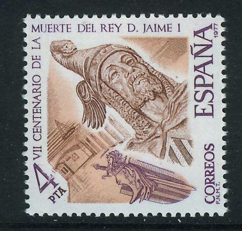 Poštovní známka Španìlsko 1977 Král Jakub I. Mi# 2283