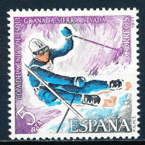 Poštovní známka Španìlsko 1977 Slalom Mi# 2294