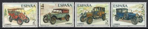 Poštovní známky Španìlsko 1977 Stará španìlská auta Mi# 2295-98