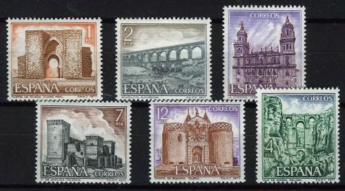 Poštovní známky Španìlsko 1977 Pamìtihodnosti Mi# 2310-15