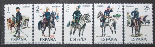 Poštovní známky Španìlsko 1977 Vojenské uniformy Mi# 2316-20