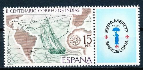 Poštovní známka Španìlsko 1977 Výstava ESPAMER, mapa Mi# 2330
