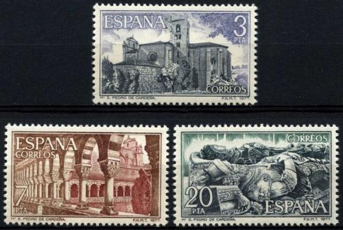 Poštovní známky Španìlsko 1977 Klášter San Pedro de Cardeòa, Burgos Mi# 2335-37