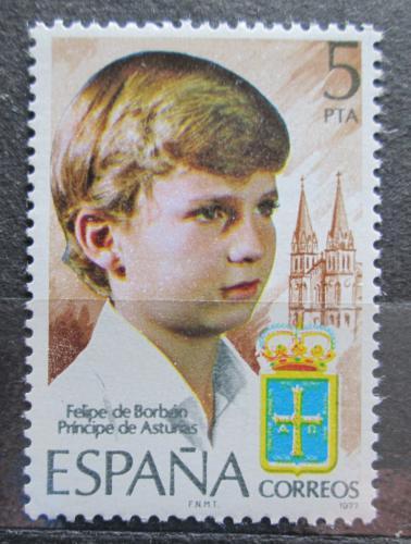Poštovní známka Španìlsko 1977 Korunní princ Filip Mi# 2341
