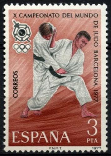 Poštovní známka Španìlsko 1977 MS v judu Mi# 2342