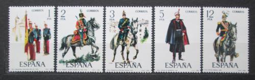 Poštovní známky Španìlsko 1978 Vojenské uniformy Mi# 2343-47