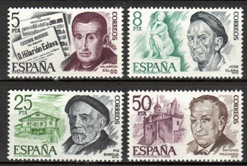 Poštovní známky Španìlsko 1978 Umìlci Mi# 2348-51