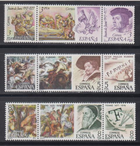 Poštovní známky Španìlsko 1978 Umìlci Mi# 2352-60