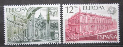 Poštovní známky Španìlsko 1978 Evropa CEPT, architektura Mi# 2366-67