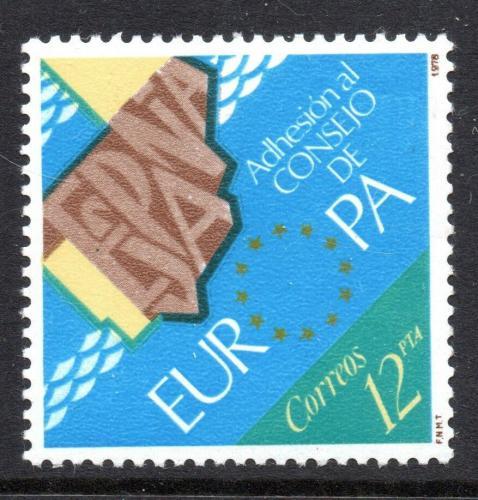 Poštovní známka Španìlsko 1978 Vstup do Evropské rady Mi# 2368