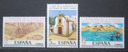 Poštovní známky Španìlsko 1978 Las Palmas, 500. výroèí Mi# 2369-71