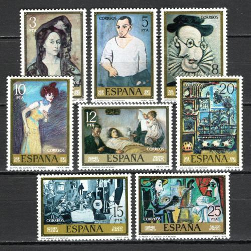 Poštovní známky Španìlsko 1978 Umìní, Pablo Picasso Mi# 2373-80
