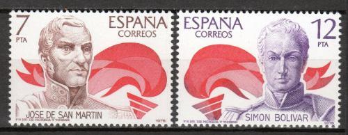 Poštovní známky Španìlsko 1978 Politici Mi# 2381-82