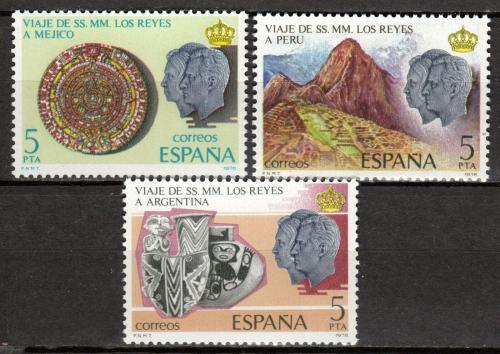 Poštovní známky Španìlsko 1978 Královský pár v Mexiku Mi# 2385-87