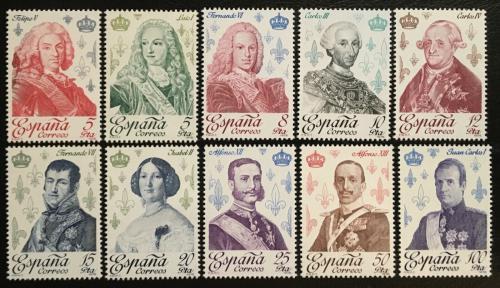 Poštovní známky Španìlsko 1978 Bourboni, králové Mi# 2388-97