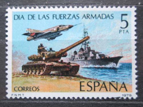 Poštovní známka Španìlsko 1979 Den armády Mi# 2417