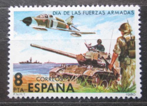 Poštovní známka Španìlsko 1980 Den armády Mi# 2464