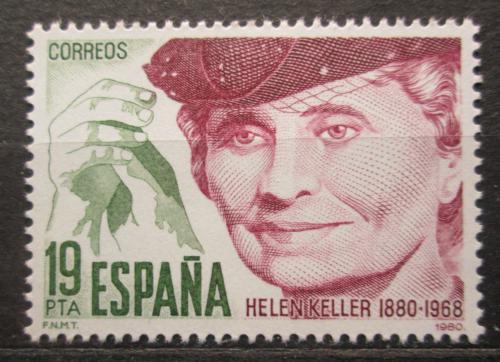 Poštovní známka Španìlsko 1980 Helen Keller, spisovatelka Mi# 2466