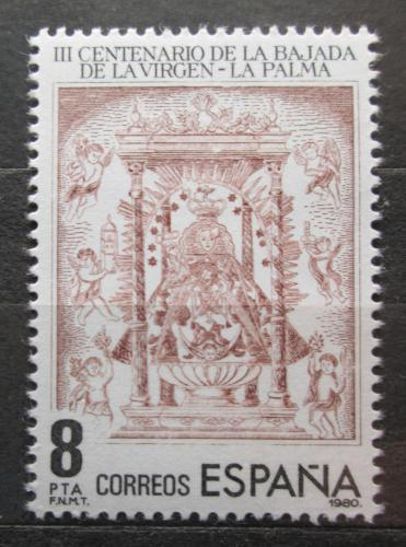 Poštovní známka Španìlsko 1980 Mariánský oltáø Mi# 2469