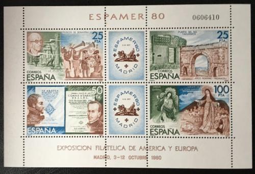 Poštovní známky Španìlsko 1980 Výstava ESPAMER Mi# Block 21