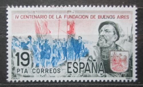 Poštovní známka Španìlsko 1980 Buenos Aires, 400. výroèí Mi# 2475