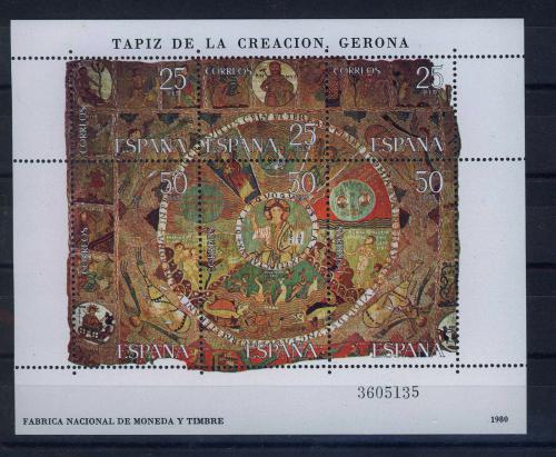 Poštovní známky Španìlsko 1980 Gobelín Mi# Block 22