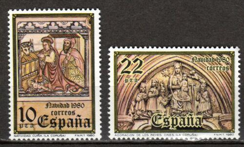Poštovní známky Španìlsko 1980 Vánoce, umìní Mi# 2483-84