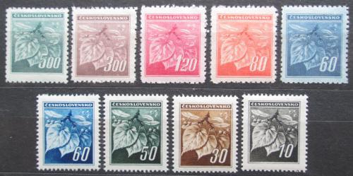 Poštovní známky Èeskoslovensko 1945 Lipový kvìt Mi# 424-32