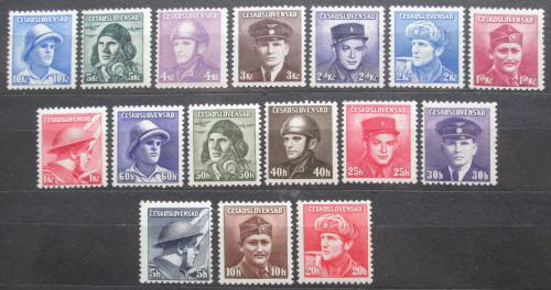 Poštovní známky Èeskoslovensko 1945 Padlí vojáci Mi# 439-54