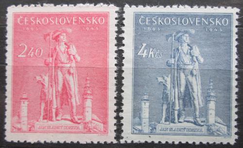 Poštovní známky Èeskoslovensko 1945 Jan Sladký Kozina Mi# 478-79