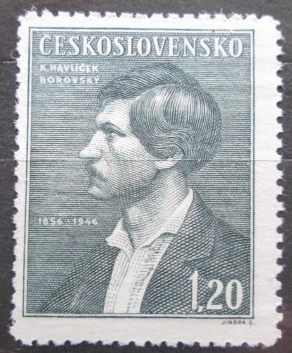Poštovní známka Èeskoslovensko 1946 Karel Havlíèek Borovský Mi# 501