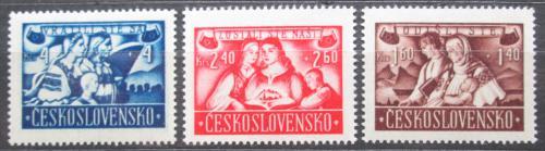 Poštovní známky Èeskoslovensko 1946 Návrat Slovákù z Maïarska Mi# 505-07