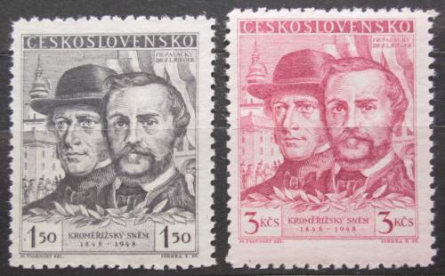 Poštovní známky Èeskoslovensko 1948 Kromìøížský snìm, 100. výroèí Mi# 544-45
