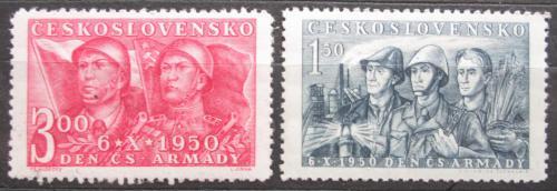 Poštovní známky Èeskoslovensko 1950 Den armády Mi# 626-27