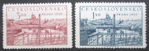 Poštovní známky Èeskoslovensko 1950 Svìtová výstava známek Mi# 638-39