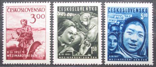 Poštovní známky Èeskoslovensko 1951 Mezinárodní den žen Mi# 650-52