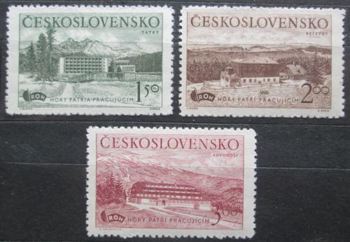 Poštovní známky Èeskoslovensko 1951 Rekreaèní zaøízení Mi# 657-59