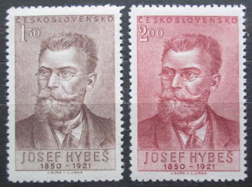 Poštovní známky Èeskoslovensko 1951 Josef Hybeš Mi# 682-83